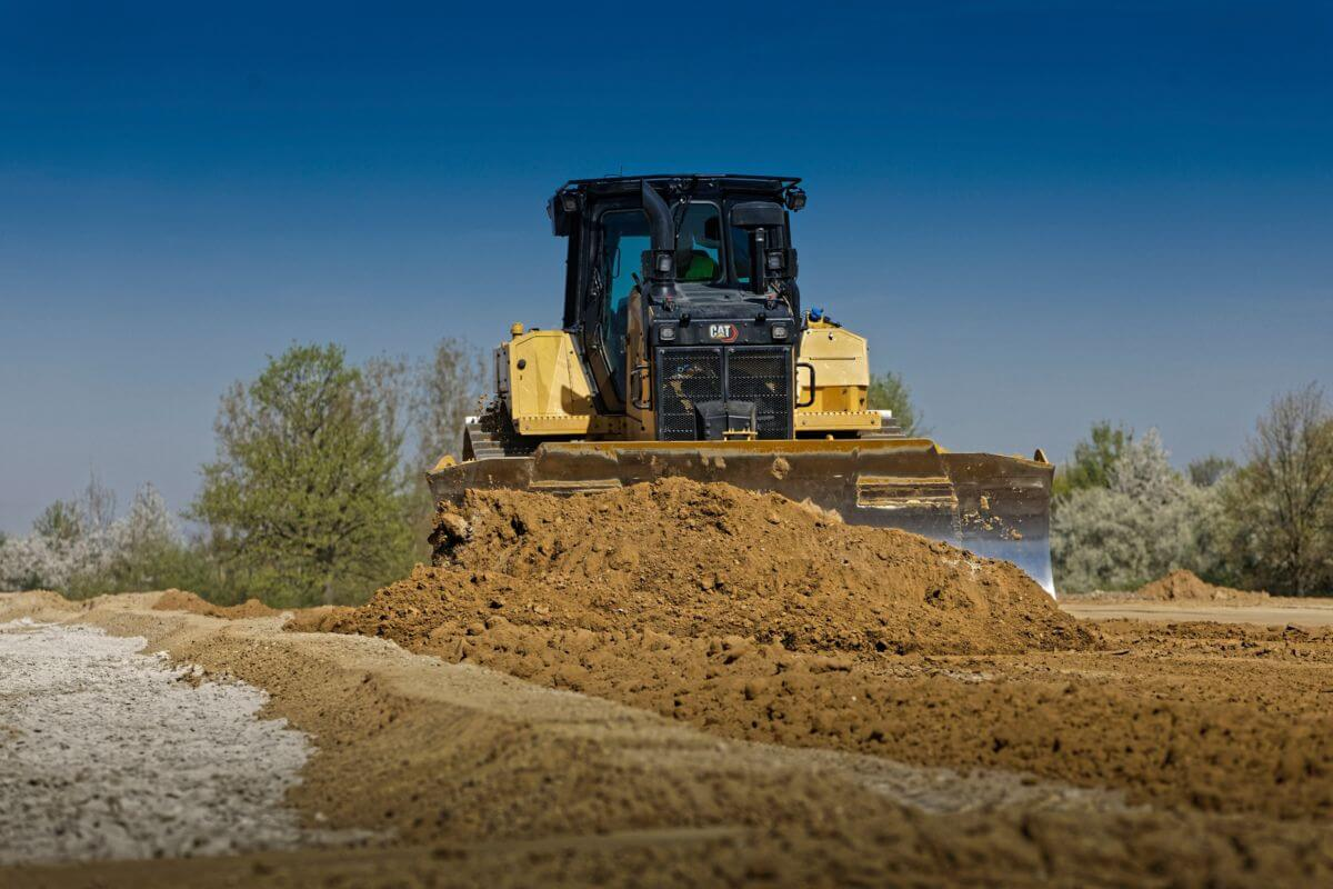 D6 XE Dozer with Electric Drive doing Site Preparation in Recycled Materials