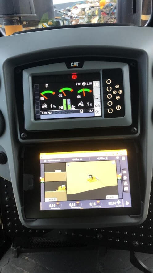 Cat D6T med Trimble Earthwork GPS-system
