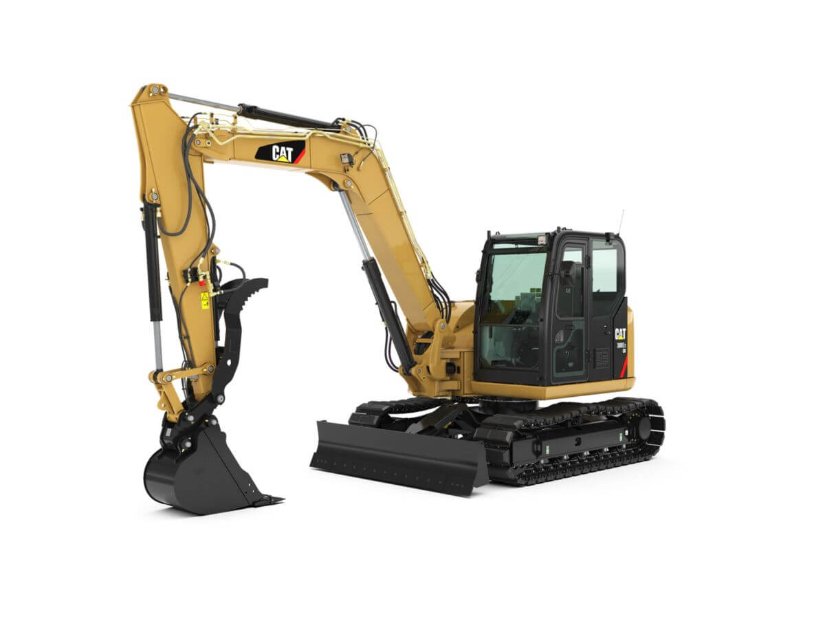 Cat 308E2 CR Mini Hydraulic Excavator with Swing Boom