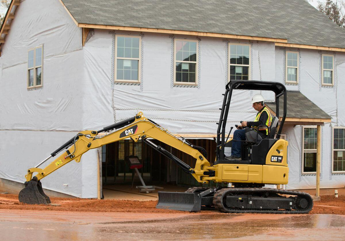 This mini hydraulic excavator provides solid performance in a small package.
